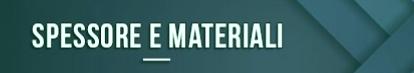 Espesor y materiales