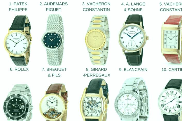 Las 5 mejores marcas de relojes